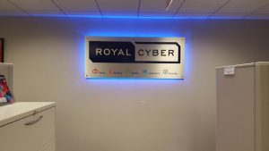 Houston Lighted Signs Royal Cyber Indoor Lobby Sign Backlit 300x169