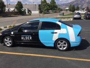Houston Car Wraps partial car wrap vehicle graphics lettering vinyl 300x225
